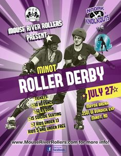 Don't miss the Nodak Knockouts Roller Derby bout this Saturday (July 27th 2013) at the Maysa Arena in Minot, ND.
