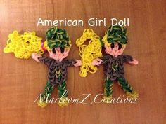 Rainbow Loom: American Girl Camouflage Doll by MarloomZ Creations