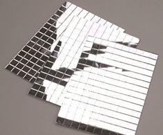 Small Silver SelfAdhesive Mirror Mosaic Tiles Mirrors - 5x5 mirror tiles