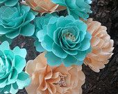 Paper Flowers - Wedding Flowers - Home Decor - Mixed Styles - Made To Order - SET OF 48