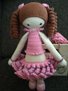lalylala doll mod made by Jeannine R. / based on a lalylala crochet pattern