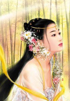 Post card art   (Chinese Hanfu Hairstyle 15)