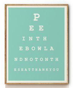 Look what I found on #zulily! Eye Chart Print by looksugar* #zulilyfinds
