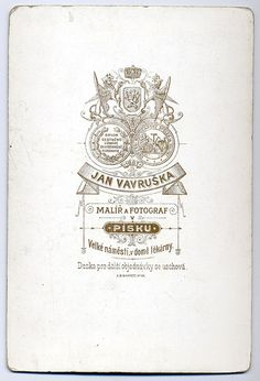Jan Vavruška, Písek - Verso by oldichvondich (josefnovak33´s Alter Ego), via Flickr