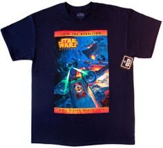 2014 Disney Star Wars Weekends Official Logo Mickey Navy T-shirt [Adult, Large] #Disney #GraphicTee