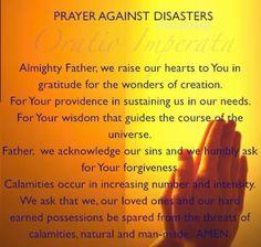Prayer Against Disasters