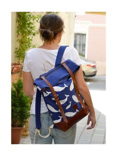 TINTA Canvas & Leather backpack Made in Hungary Canvas Leather, Hungary, Leather Backpack, Fashion Backpack, Backpacks, Classic, How To Make, Bags, Derby