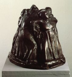 """Käthe Kollwitz, The Tower of Mothers, 1937-8, at the Scottish National Gallery of Modern Art (Two) in Edinburgh. I found this sculpture so sad. The museum had a note that the Nazis removed this piece from a show because """"In the Third Reich mothers have no need to defend their children. The state does that for them."""" Yes, that worked out so well. Viewed July 2012."""