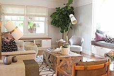 Bohemian electic living room owens and davis
