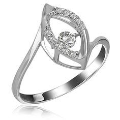 Интересное решение: камень все время в движении в этом золотом кольце