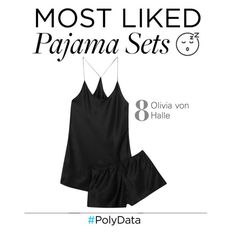 """""""PolyData: #8 Most Liked Pajama Set"""" by polyvore ❤ liked on Polyvore featuring Olivia von Halle, pjs and polydata"""