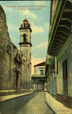 Habana. Alrededores de la Catedral. Sin circular. (Postales - Postales Extranjero - América - Cuba)