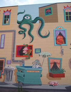 21 Amazing and Diverse Murals on this Mural Tour - Eureka, Eureka/Humboldt Bay, Humboldt County, California ... many By Duane Flatmo and some from the Rural Burl Mural Bureau students ... http://redwoods.info/showrecord.asp?id=3523