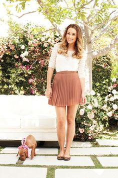I need to find this outfit... and that sweet pup. I like Lauren Conrad way too much.