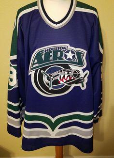 IHL Bauer Houston Aeros Jersey X-LARGE | Sports Mem, Cards & Fan Shop, Fan Apparel & Souvenirs, Hockey-Minors | eBay!
