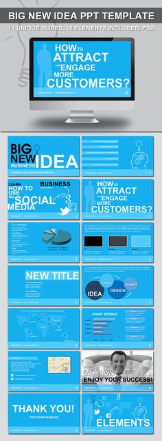 Green Ad Agency Power Point Template  Fonts Shape And Power