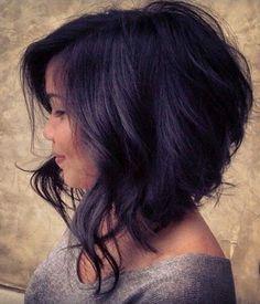Sexy wavy Aline bob haircut for women