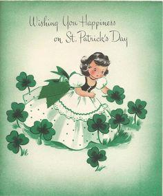 st patrick's day vintage images   vintage St. Patrick's Day card