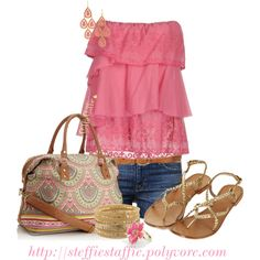 """Summer Weekend Wear"" by steffiestaffie on Polyvore"