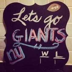 my giants chalkboard.
