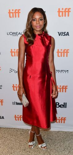 """Naomie Harris in Dior paired with Sophia Webster sandals attends the premiere of """"Moonlight"""" during the 2016 Toronto International Film Festival. #bestdressed"""