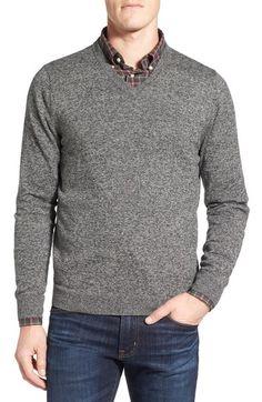 b9693e4e004e41 Nordstrom Men s Shop Cotton   Cashmere V-Neck Sweater (Regular   Tall)