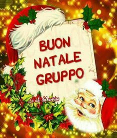 Buon Natale gruppo Mary Christmas, Christmas Tree With Gifts, Italian Christmas, Christmas Time, Christmas Bulbs, Xmas, Vintage Postcards, Origami, Projects To Try