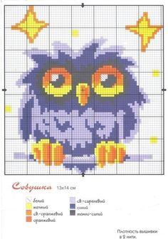 Ponto Cruz, artesanato, bordado, coruja
