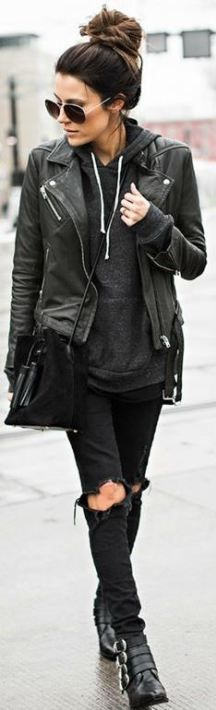There are so many ways to wear a leather jacket. Leather jacket outfits are super versatile whether black or brown and can go with almost any look!