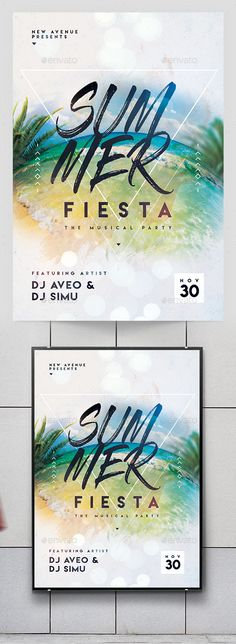 Summer Party Flyer — Photoshop PSD #summer party flyer #party • Download ➝ https://graphicriver.net/item/summer-party-flyer/19649338?ref=pxcr
