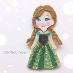Princess Anna Inspired Hair Clip - Dovile @littlemagicpieces Instagram photos | Websta (Webstagram)