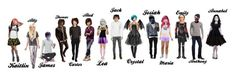 """All my characters"" by blurry-face2 ❤ liked on Polyvore featuring jayssupernaturalstuff"