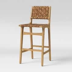 Ceylon Woven And Wood Counterstool Brown & Natural Wood - Opalhouse™ : Target Woven Bar Stools, Leather Counter Stools, Leather Stool, Wooden Counter, Counter Height Stools, Rattan Bar Stools, Counter Top, Island Chairs, Kitchen Stools