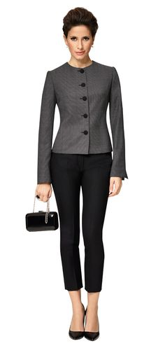 Dolzer Lady Kombination Schwarz Grau - this is very classic/chic looking. maybe an idea for housekeeping in the evening?