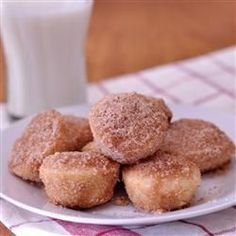 """Donut Muffins   """"I made these muffins yesterday and they were a big hit! Good flavor and totally easy to make. These are a perfect little desert muffin or even great with coffee or milk in the morning. Kids loved them because they were small enough for them to eat in two bites."""""""