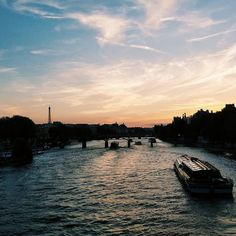 1 photo/day 2405: not a bad spot to sit and wait for some fireworks. This was my first Bastille Day and it was wonderful. If nothing else it definitely convinced me that next year I want to be right under the tower for the show.  #vscocam #travel #paris #france #sunset #bastilleday #14juillet