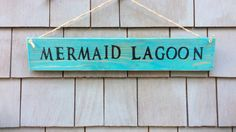 Mermaid Lagoon Rustic Sign by HomesteadDesign on Etsy