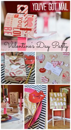 """""""You've Got Mail"""" Valentine's Day party ideas! See more party ideas at CatchMyParty.com. #valentinesday #party"""