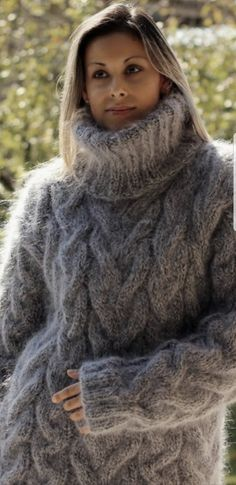 Sweater Fashion, Sweater Outfits, Angora, Mohair Sweater, Warm And Cozy, Cardigans, Sweaters, Turtle Neck, Pullover