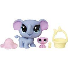 Littlest Pet Shop Indigo Trunkley & Pinkaboo Trunkley, Multicolor