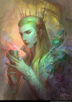 Thranduil the Woodland King by HRFleur Tolkien, Legolas, Fantasy Male, Fantasy World, Illustrations, Illustration Art, Dragons, O Hobbit, Fantasy Artwork