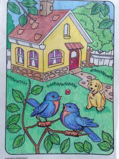 Easy Cartoon Drawings, Small Drawings, Art Drawings For Kids, Colorful Drawings, Disney Drawings, Easy Drawings, Drawing Pictures For Kids, Scenery Drawing For Kids, Drawing Tutorials For Kids
