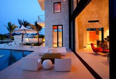Casa-Bonaire pool patio and outdoor living room