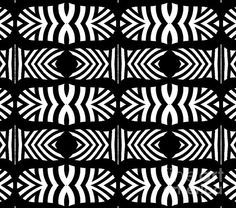 Black and white pattern, abstract art.