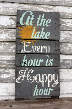 Having a lake house for I can vouch this is 💯% True❗️ Ayant une maison au bord du lac … Lake House Signs, Lake Signs, Beach Signs, Cottage Signs, Cabin Signs, Pallet Painting, Pallet Art, Pallet Signs, Pallet Crafts
