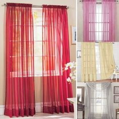 Door Window Curtains Drape Panel or Scarf Assorted Scarf Sheer Voile cortinas Multi-Styles