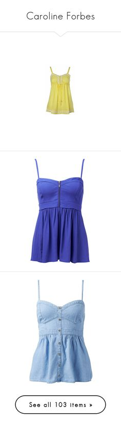 """Caroline Forbes"" by madelame ❤ liked on Polyvore featuring intimates, camis, shirts, longline cami, tops, tank tops, dresses, blusas, techno purple and purple tank top"