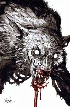 Zombie werewolf by Dave Wachter…