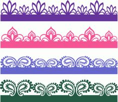 paisley sketches borders set 62576----------------------I think I'm in love with this shape from the Silhouette Online Store!