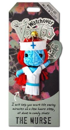 Watchover+VooDoo+String+Doll+Keychain+-+The+Nurse